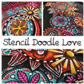 Tracy Scott Stencil Doodle Love Online Workshop
